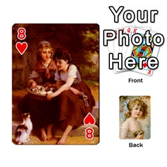 Dogs, Cats And Children By Helen Norton By Helen   Playing Cards 54 Designs   Jiv7hindenbs   Www Artscow Com Front - Heart8