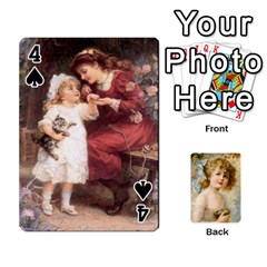 Dogs, Cats And Children By Helen Norton By Helen   Playing Cards 54 Designs   Jiv7hindenbs   Www Artscow Com Front - Spade4