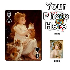 Dogs, Cats And Children By Helen Norton By Helen   Playing Cards 54 Designs   Jiv7hindenbs   Www Artscow Com Front - Spade8