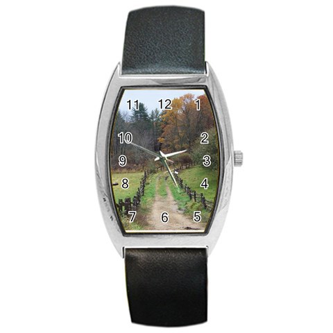 Take Me Away Watch By Terri   Barrel Style Metal Watch   3c9aarwxybmy   Www Artscow Com Front