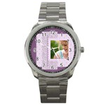 pink ideal watch - Sport Metal Watch