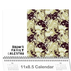 Brown Family Calendar By Shelly   Wall Calendar 11  X 8 5  (12 Months)   Gyxbncz1d6um   Www Artscow Com Cover