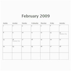 2009family By Julie Guess   Wall Calendar 11  X 8 5  (12 Months)   E136qtijzkde   Www Artscow Com Feb 2009