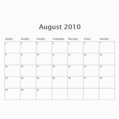 2010 Calendar By Brandy   Wall Calendar 11  X 8 5  (12 Months)   Jp2t1ui5xiqc   Www Artscow Com Aug 2010