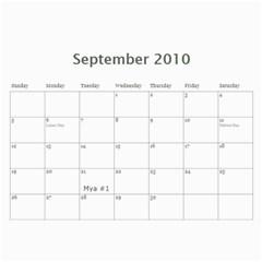 2010 Calendar By Brandy   Wall Calendar 11  X 8 5  (12 Months)   Jp2t1ui5xiqc   Www Artscow Com Sep 2010
