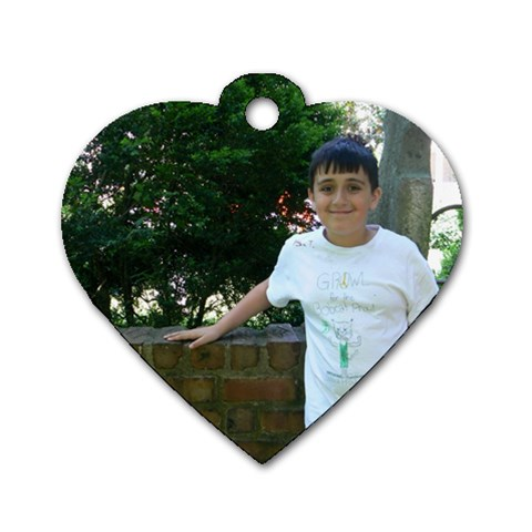 By Kim   Dog Tag Heart (one Side)   Mxpd9d4xmwms   Www Artscow Com Front