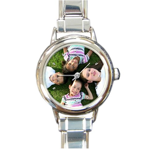 Round Italian Charm Watch  By Amber Pena   Round Italian Charm Watch   Mga16r1hnhrv   Www Artscow Com Front