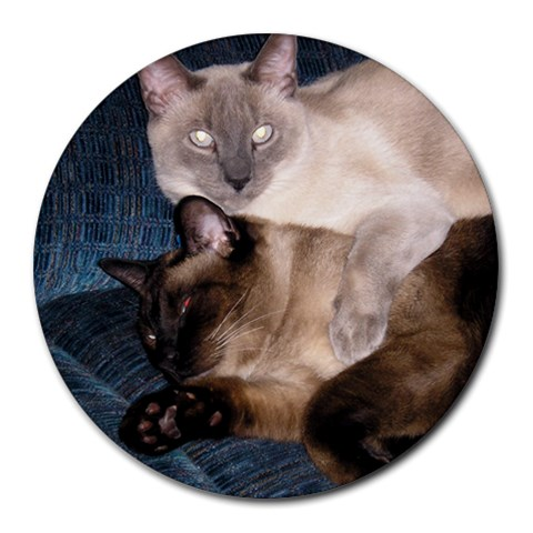 Oscar And Simon By Rachel   Round Mousepad   Dl8bwpt2xpid   Www Artscow Com Front