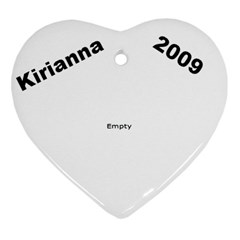 Kirianna 2009 H By Per Westman   Heart Ornament (two Sides)   E8sk0ocxcfdv   Www Artscow Com Front