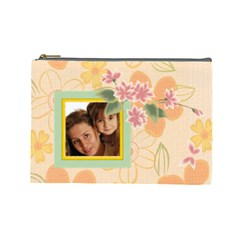Flower Bag By Wood Johnson   Cosmetic Bag (large)   Xgtvgsdnbmoc   Www Artscow Com Front