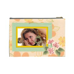 Flower Bag By Wood Johnson   Cosmetic Bag (large)   Xgtvgsdnbmoc   Www Artscow Com Back
