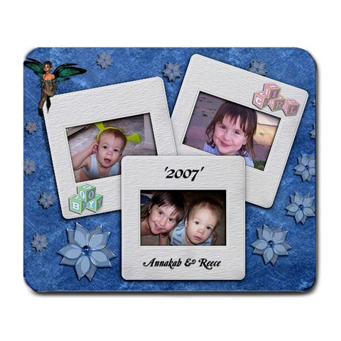 Annakah And Reece 2007 By Belinda Geissler   Large Mousepad   4ojovb9ytruz   Www Artscow Com Front