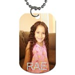 rae - Dog Tag (One Side)