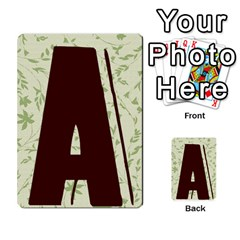 Alpha Cards By Carissa   Multi Purpose Cards (rectangle)   Gtwlzpnfqmce   Www Artscow Com Back 1