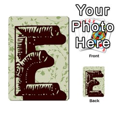 Alpha Cards By Carissa   Multi Purpose Cards (rectangle)   Gtwlzpnfqmce   Www Artscow Com Back 10
