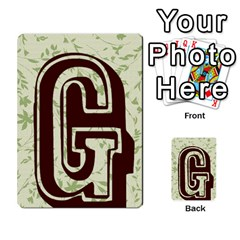 Alpha Cards By Carissa   Multi Purpose Cards (rectangle)   Gtwlzpnfqmce   Www Artscow Com Back 12