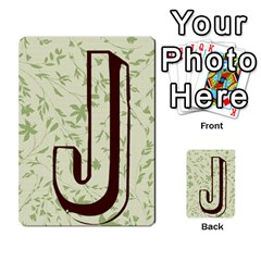 Alpha Cards By Carissa   Multi Purpose Cards (rectangle)   Gtwlzpnfqmce   Www Artscow Com Back 16