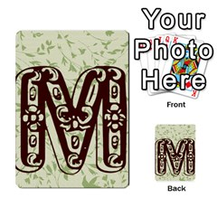 Alpha Cards By Carissa   Multi Purpose Cards (rectangle)   Gtwlzpnfqmce   Www Artscow Com Back 22