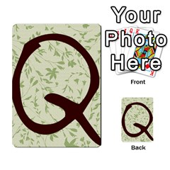 Alpha Cards By Carissa   Multi Purpose Cards (rectangle)   Gtwlzpnfqmce   Www Artscow Com Back 28