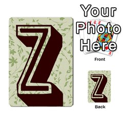 Alpha Cards By Carissa   Multi Purpose Cards (rectangle)   Gtwlzpnfqmce   Www Artscow Com Back 42