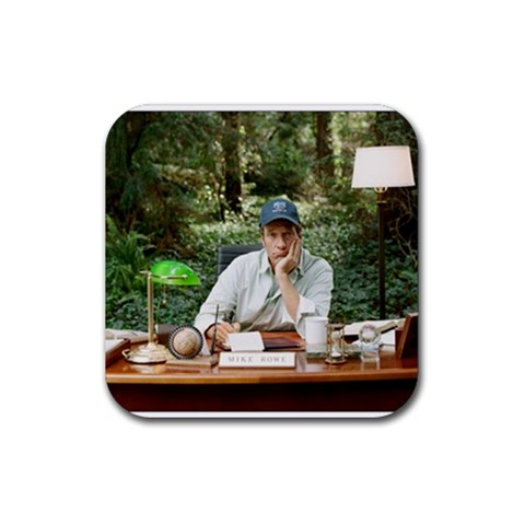 Mike Rowe At  work    Coaster By Maise   Rubber Coaster (square)   Bg62eh6oi3rd   Www Artscow Com Front