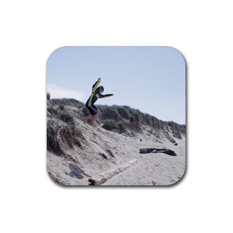 The Amazing Leaping Camden By Amyjo   Rubber Coaster (square)   Vcis9e2mq594   Www Artscow Com Front