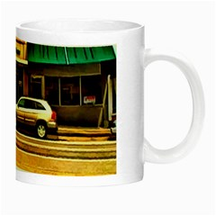Mockingbird/backyard Mug By Kathy Tarochione   Night Luminous Mug   T18jlvizl00j   Www Artscow Com Right