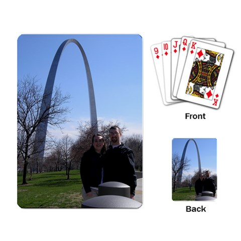 St  Louis Arch By Justin Coffman   Playing Cards Single Design   G11u0gfclh33   Www Artscow Com Back