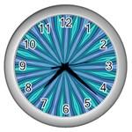 designer clock - Wall Clock (Silver)