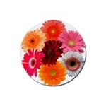daisy s coasters - Rubber Coaster (Round)