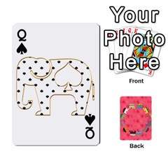 Queen Elephant Cards By Jyothi   Playing Cards 54 Designs   Hfuh4jsmazv4   Www Artscow Com Front - SpadeQ
