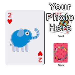 Elephant Cards By Jyothi   Playing Cards 54 Designs   Hfuh4jsmazv4   Www Artscow Com Front - Heart2