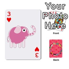 Elephant Cards By Jyothi   Playing Cards 54 Designs   Hfuh4jsmazv4   Www Artscow Com Front - Heart3