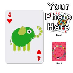 Elephant Cards By Jyothi   Playing Cards 54 Designs   Hfuh4jsmazv4   Www Artscow Com Front - Heart4