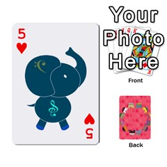 Elephant Cards By Jyothi   Playing Cards 54 Designs   Hfuh4jsmazv4   Www Artscow Com Front - Heart5