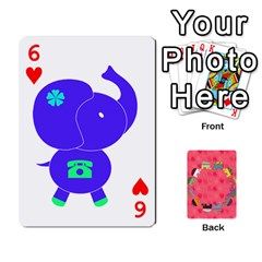 Elephant Cards By Jyothi   Playing Cards 54 Designs   Hfuh4jsmazv4   Www Artscow Com Front - Heart6