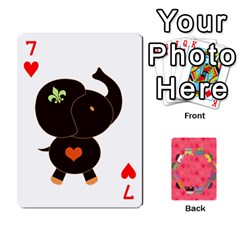 Elephant Cards By Jyothi   Playing Cards 54 Designs   Hfuh4jsmazv4   Www Artscow Com Front - Heart7