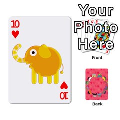 Elephant Cards By Jyothi   Playing Cards 54 Designs   Hfuh4jsmazv4   Www Artscow Com Front - Heart10