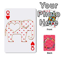Queen Elephant Cards By Jyothi   Playing Cards 54 Designs   Hfuh4jsmazv4   Www Artscow Com Front - HeartQ