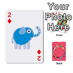 Elephant Cards By Jyothi   Playing Cards 54 Designs   Hfuh4jsmazv4   Www Artscow Com Front - Diamond2