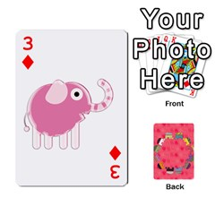 Elephant Cards By Jyothi   Playing Cards 54 Designs   Hfuh4jsmazv4   Www Artscow Com Front - Diamond3