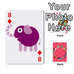 Elephant Cards By Jyothi   Playing Cards 54 Designs   Hfuh4jsmazv4   Www Artscow Com Front - Diamond8