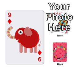 Elephant Cards By Jyothi   Playing Cards 54 Designs   Hfuh4jsmazv4   Www Artscow Com Front - Diamond9