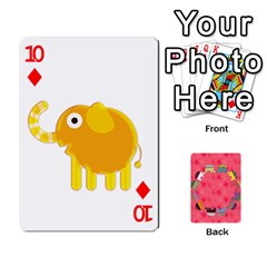 Elephant Cards By Jyothi   Playing Cards 54 Designs   Hfuh4jsmazv4   Www Artscow Com Front - Diamond10