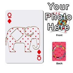 Queen Elephant Cards By Jyothi   Playing Cards 54 Designs   Hfuh4jsmazv4   Www Artscow Com Front - DiamondQ