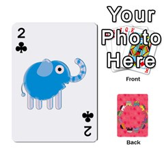 Elephant Cards By Jyothi   Playing Cards 54 Designs   Hfuh4jsmazv4   Www Artscow Com Front - Club2