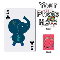 Elephant Cards By Jyothi   Playing Cards 54 Designs   Hfuh4jsmazv4   Www Artscow Com Front - Club5