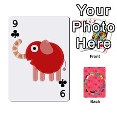 Elephant Cards By Jyothi   Playing Cards 54 Designs   Hfuh4jsmazv4   Www Artscow Com Front - Club9