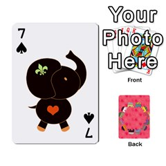Elephant Cards By Jyothi   Playing Cards 54 Designs   Hfuh4jsmazv4   Www Artscow Com Front - Spade7