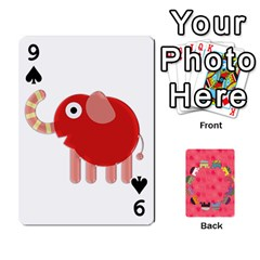 Elephant Cards By Jyothi   Playing Cards 54 Designs   Hfuh4jsmazv4   Www Artscow Com Front - Spade9